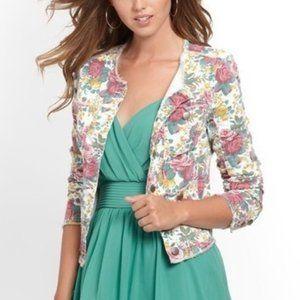 Guess Floral Print Denim Jacket